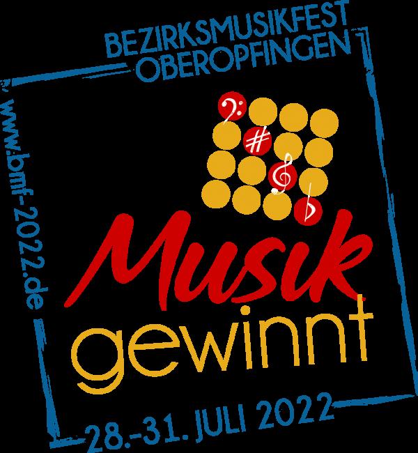 Bezirksmusikfest 2022 Oberopfingen Logo